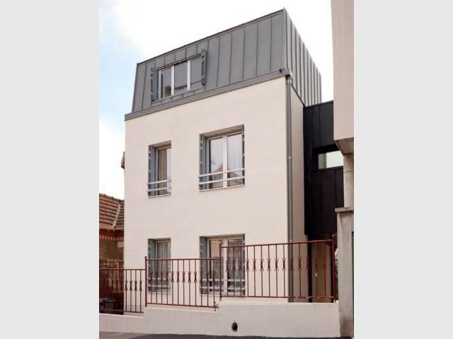 Façade côté rue - Reportage extension Vanves