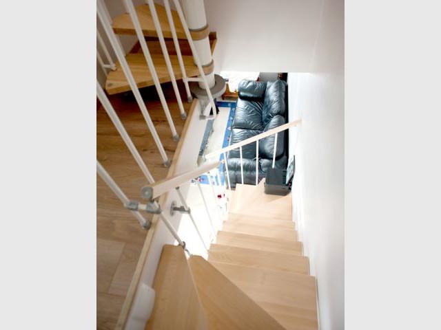 Escalier intérieur - Reportage extension Vanves