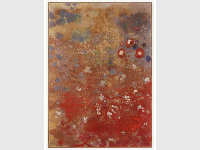 Panneau rouge Odilon Redon