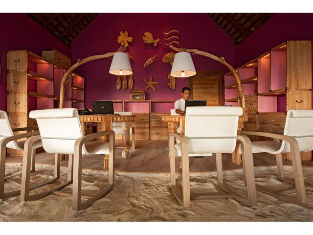 Réception de l'hôtel - Moofushi Resort