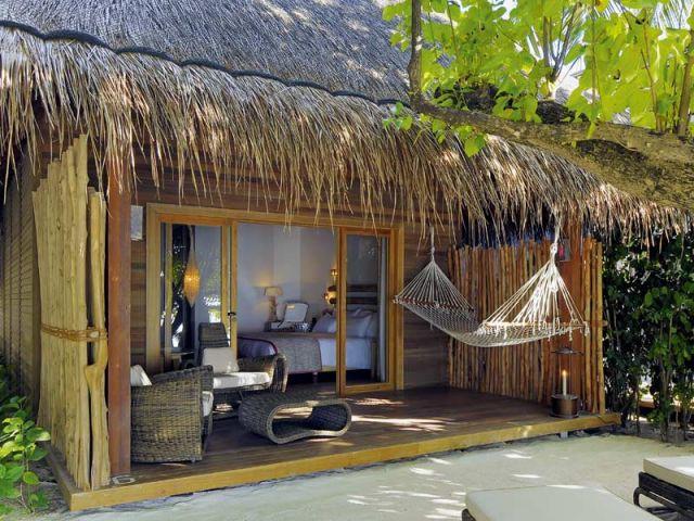 Beach villa - entrée - Moofushi Resort