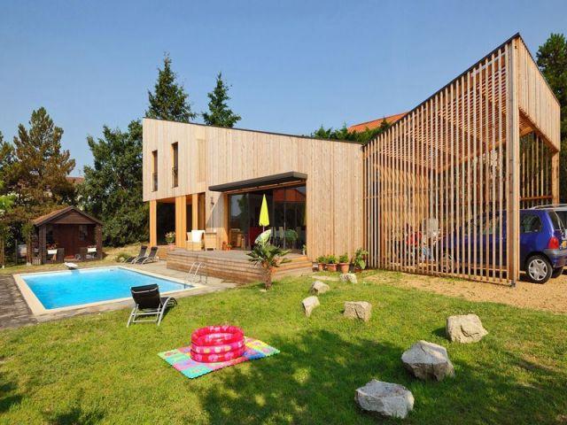 Laurier de la réalisation de la Maison individuelle / Architecture contemporaine  - Laurier construction bois