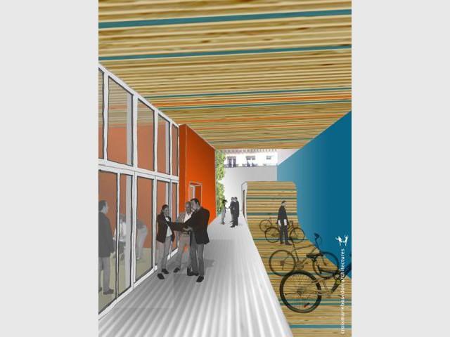 Laurier du projet du Bâtiment collectif / Logement / Habitat groupé - Laurier construction bois