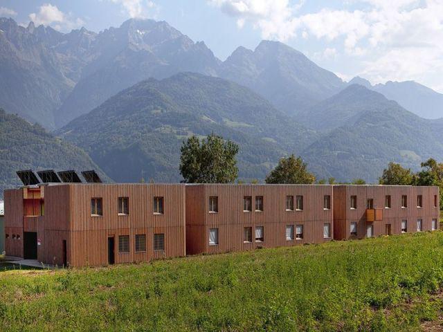 Laurier de la réalisation du Bâtiment collectif / Logement / Habitat groupé - Laurier construction bois