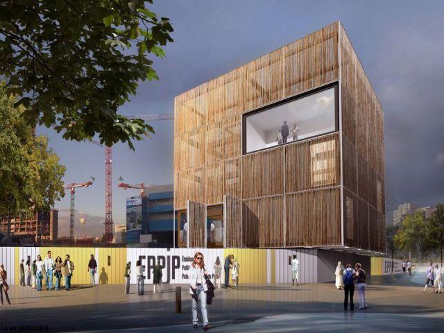 Laurier du projet du Bâtiment collectif / Équipement - Laurier construction bois