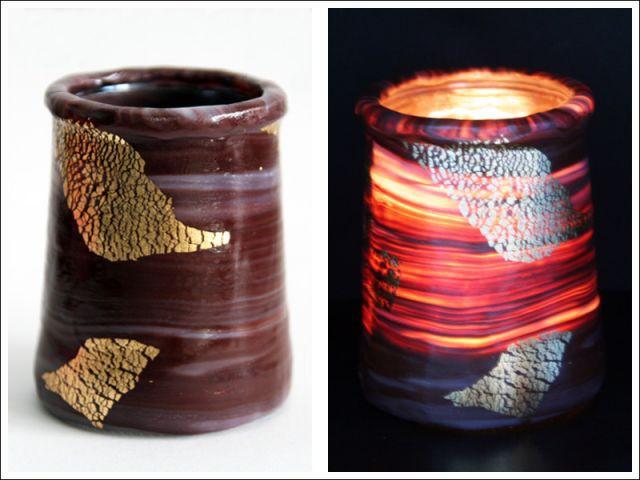 Photophore doré : résultat final - Les Ateliers de Mireia