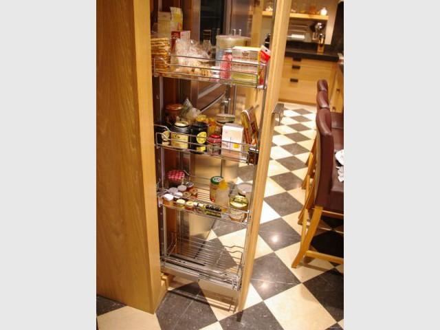 Tiroir garde manger - Reportage cuisine sous-sol