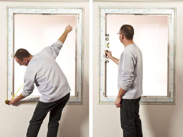Etape 5 : Vérifier l'équerrage - Rénovation fenêtre