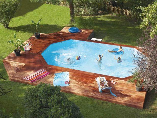 10 piscines hors sol rapides installer for Piscine cerland