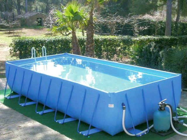 10 piscines hors sol rapides installer - Prix pvc arme piscine ...