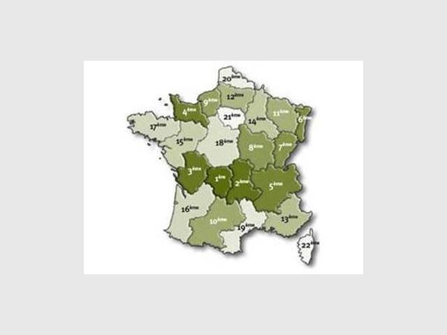 """Top 5 du """"bois énergie"""" par région - Qualit'EnR"""