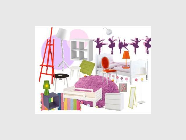Une chambre de petite fille subtilement décorée