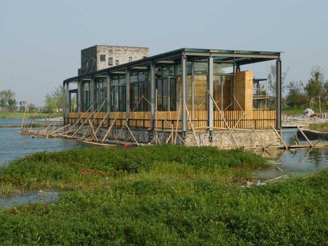 cinq maisons dispersees wang shu galerie