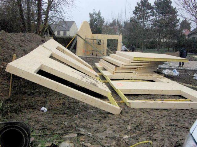 Murs - Maison bois bioclimatique