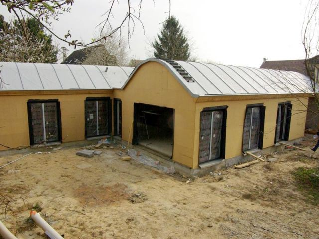 Panneaux solaires - Maison bois bioclimatique