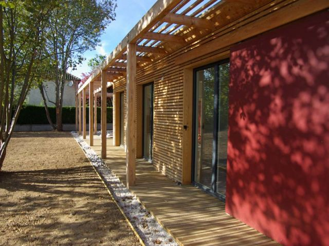 Pergola - Maison bois bioclimatique