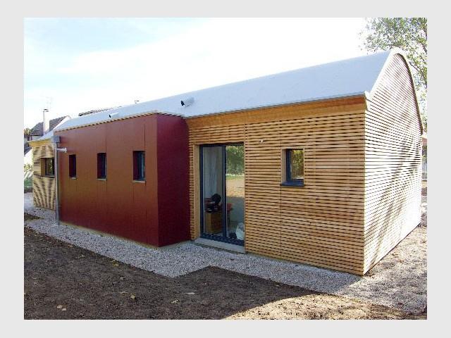 Local technique - Maison bois bioclimatique