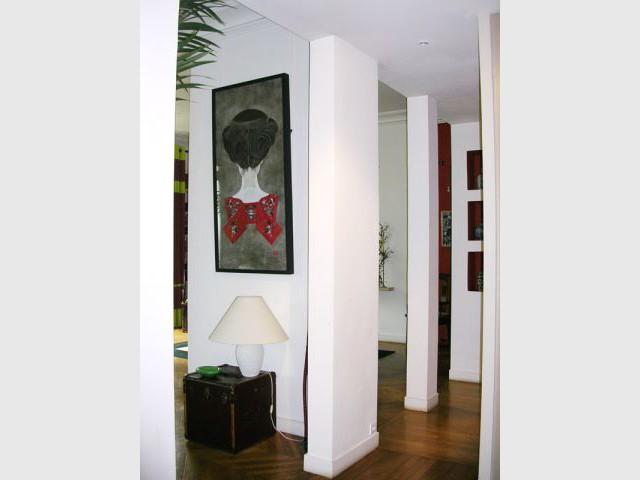 Entrée et cloisons - Appartement Asie moderne