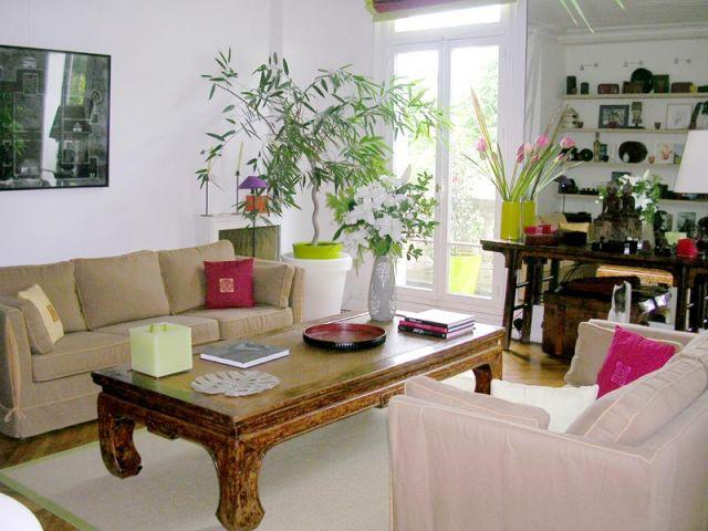 Vue d'ensemble du salon - Appartement Asie moderne