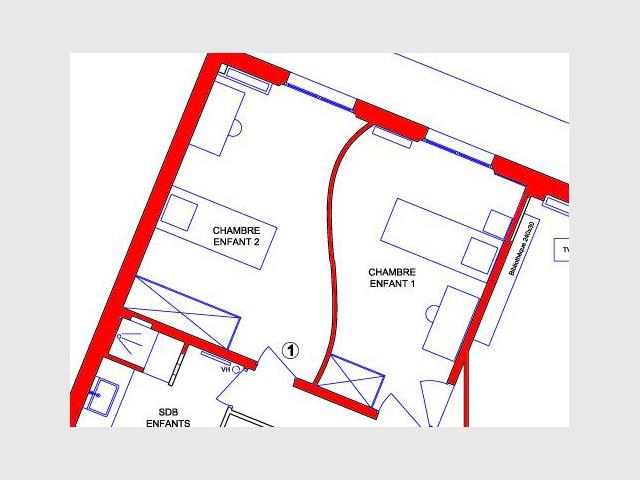 Plan des chambres des enfants - Appartement Asie moderne