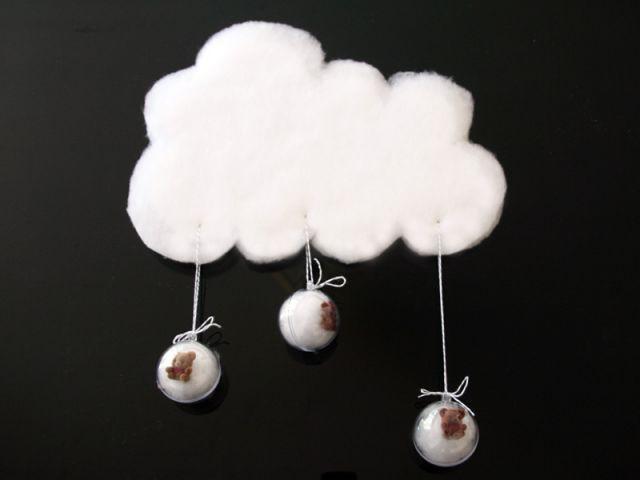 Des id es pour d corer la chambre de b b - Fabriquer mobile bebe nuage ...