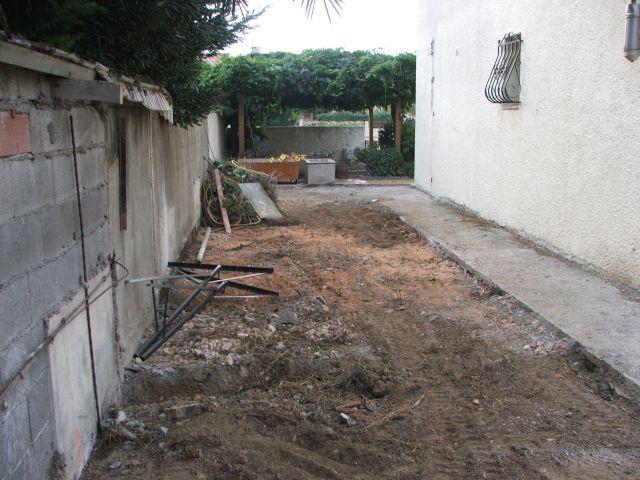 Travaux : mise à nu du terrain - Arcambal