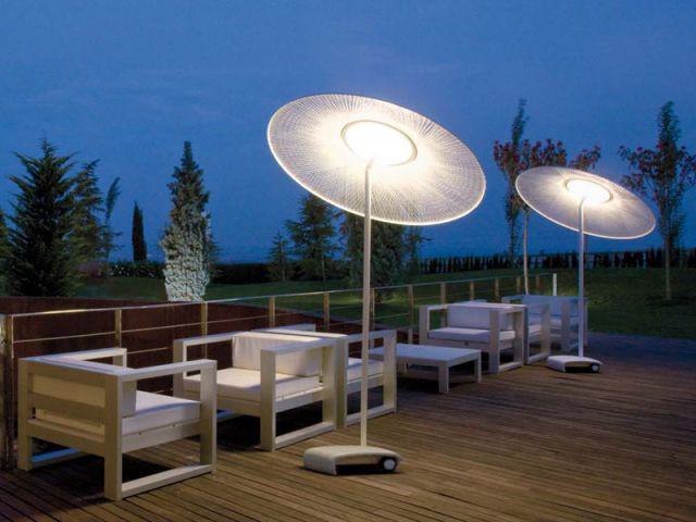 Parasol lumineux - Luminaires jardin