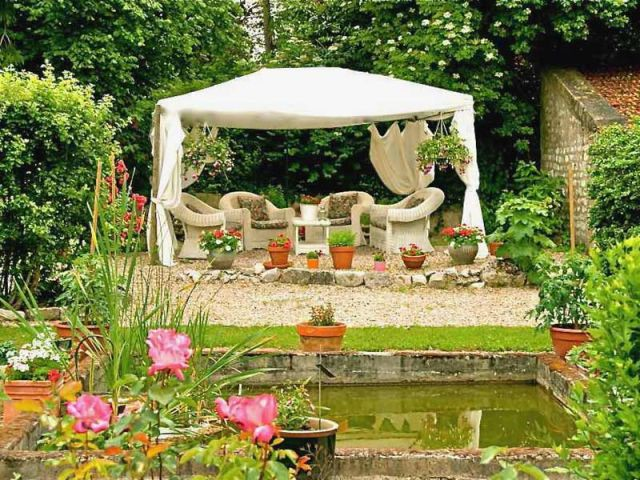 Les Jardins d'Hélène - Tonnelle - Reportage gîte Giverny