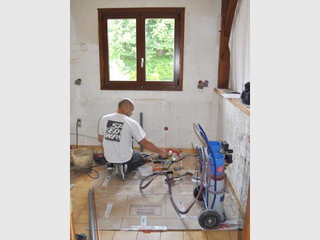 Travaux de plomberie - Avant/après cuisine Chahi