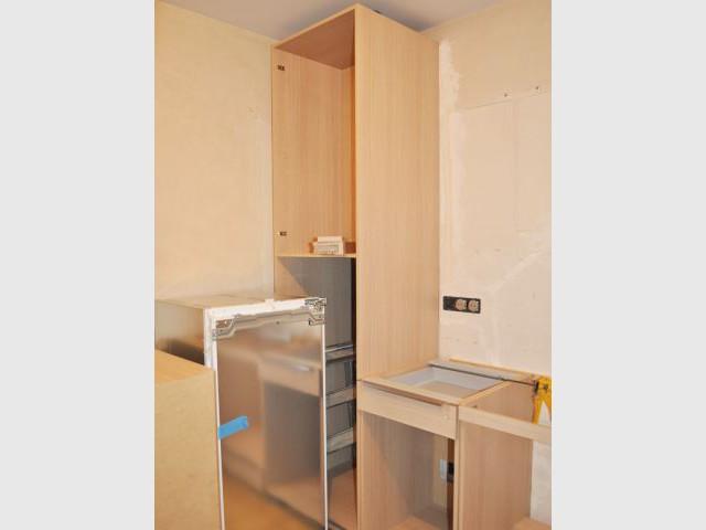 Réfrigérateur encastré - Avant/après cuisine Chahi