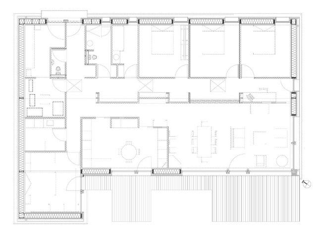 Maison passive - Plan - Maison passive Neuville en Ferrain