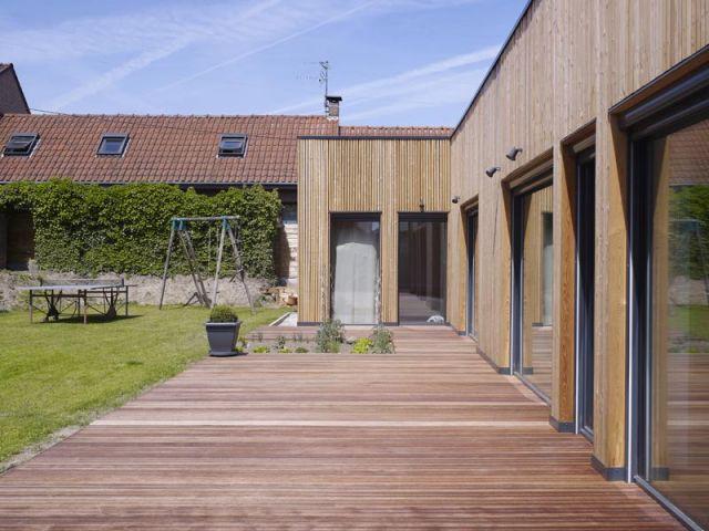 Maison passive - Terrasse - Maison passive Neuville en Ferrain