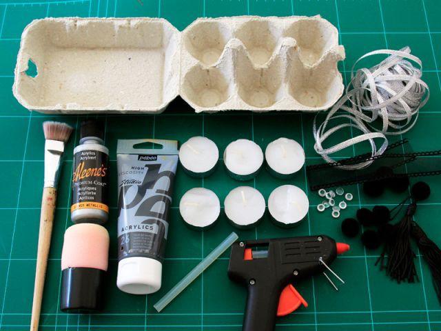 Bougeoir argenté : le matériel - Les Ateliers de Mireia