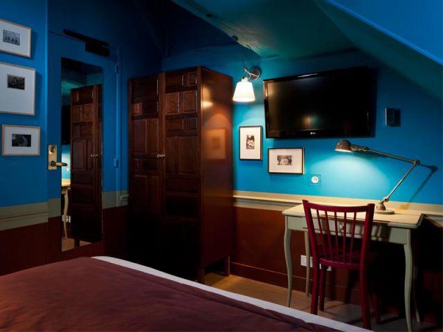 Chambre bleue - Hôtel Le Crayon