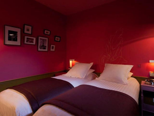 Chambre rose - Hôtel Le Crayon