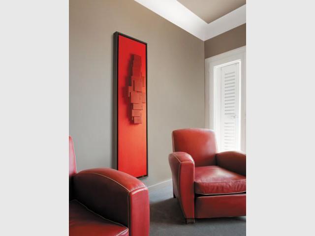 Chauffage design tendance 2011 - Radiateur tableau rouge - Chauffage design tendance 2011