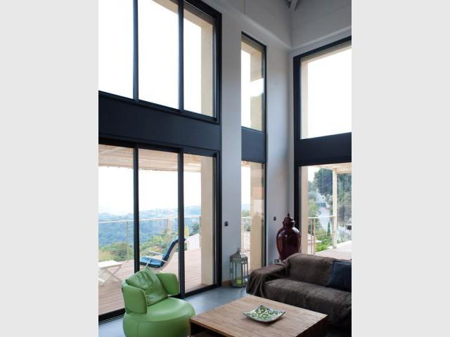 Maison acier - Baie vitrée - Maison acier Nice