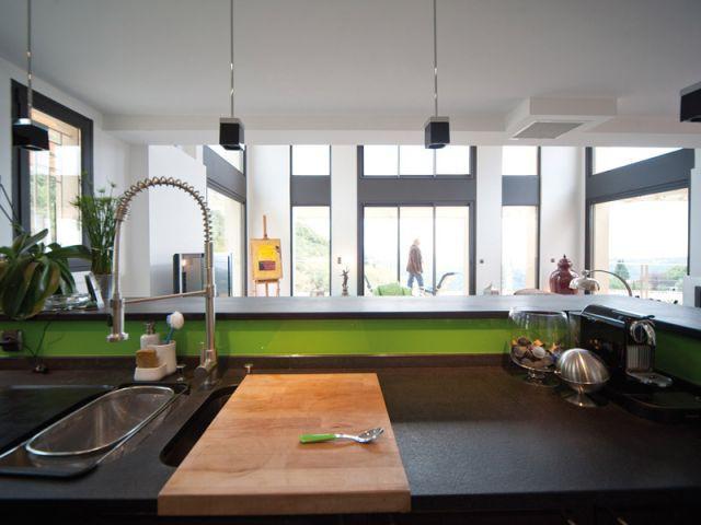Maison acier - Vue de la cuisine - Maison acier Nice