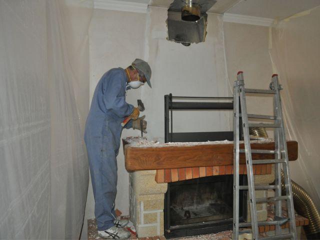 Démolition 2/2  - Démontage cheminée