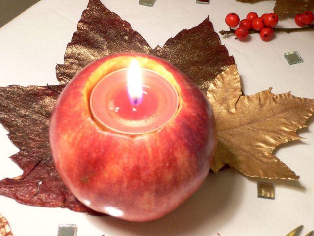 """Photophore """"Pomme de Noël"""" - Déco table Noël"""