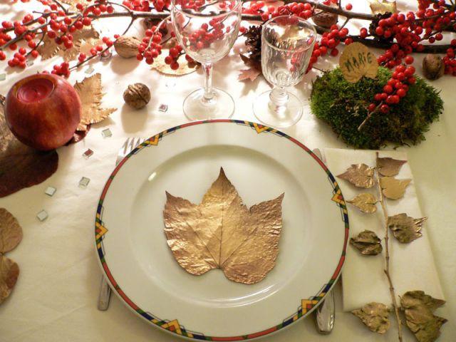 Déco table Noël