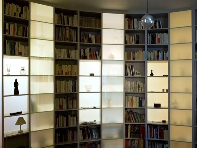 Reportage cloison bibliothèque