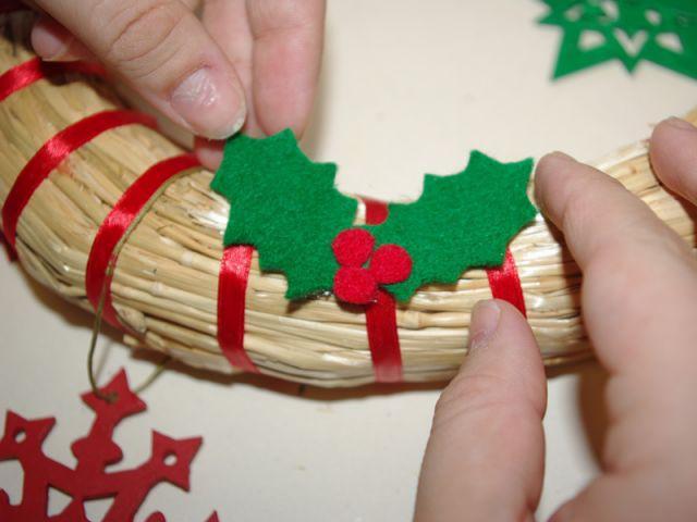 Couronne de Noël - Résultat - Pas à pas couronne de Noël