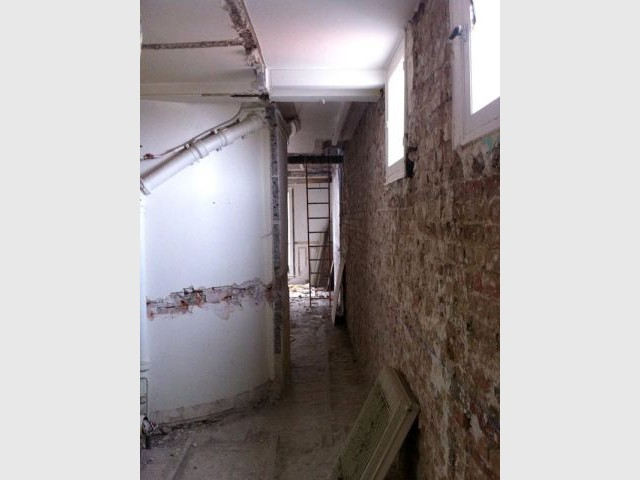 Duplex avec terrasse - Cage d'escalier - Reportage duplex terrasse