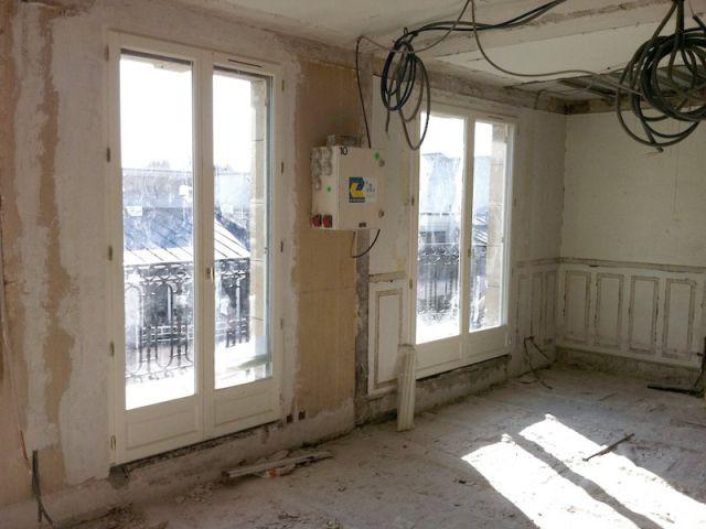 Duplex avec terrasse - Mise à nu - Reportage duplex terrasse