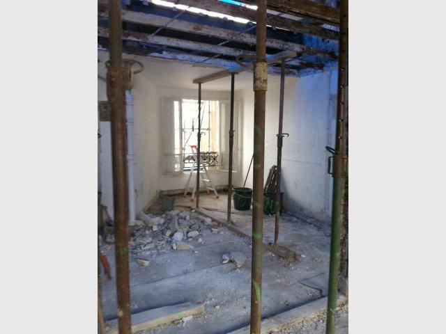 Duplex avec terrasse - Etaiement - Reportage duplex terrasse