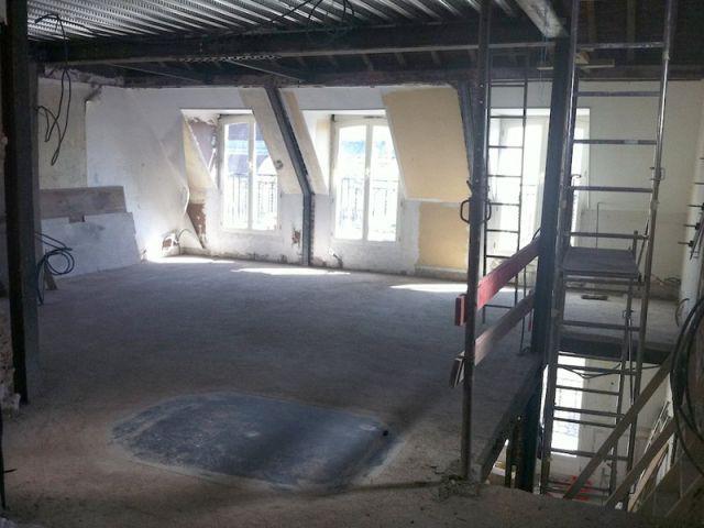 Duplex avec terrasse - Futur salon - Reportage duplex terrasse