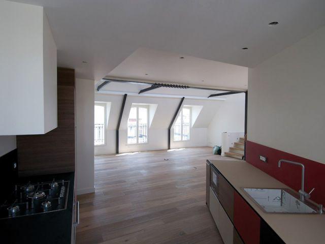 Duplex avec terrasse - Cuisine - Reportage duplex terrasse