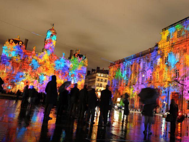 La Fête des Lumières à Lyon - Tour de France décoration Noël