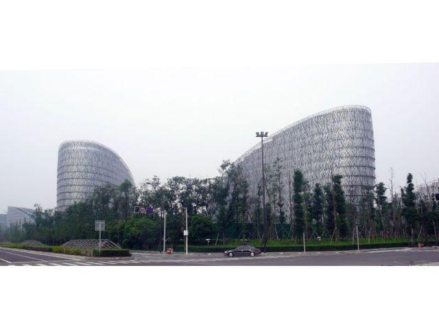 Un campus et un parc - Centre administratif de Paul Andreu